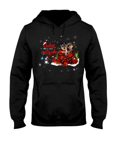 SHN 3 Its cold outside Yorkshire Terrier shirt