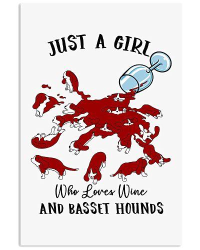 Wine glass spilled basset hound