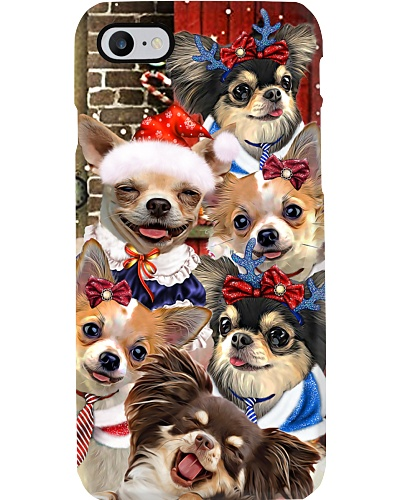 Chihuahua hello christmas case11