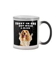 TT Cocker Spaniel Trust In God Color Changing Mug tile