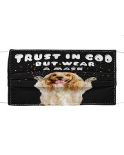 TT Cocker Spaniel Trust In God Cloth face mask front