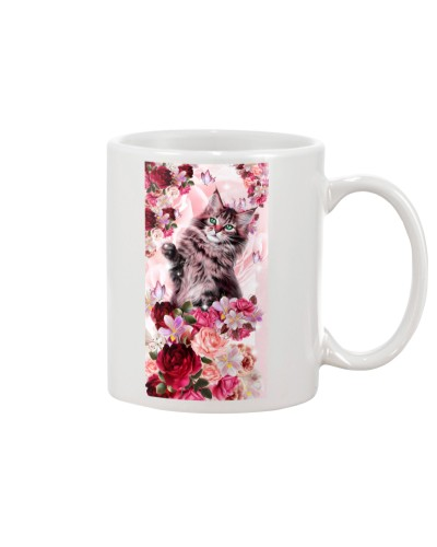 SHN 10 Pink roses Cat phone case
