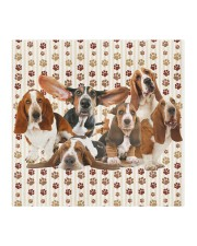 Basset Hound Friends Cloth face mask aos-face-mask-coverlet-lifestyle-front-02