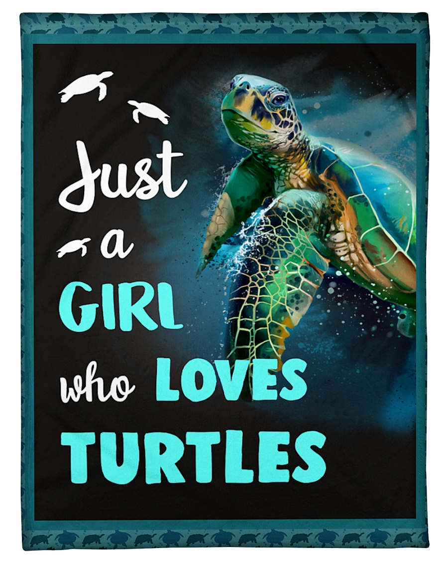 """Just a girl who loves turtles Small Fleece Blanket - 30"""" x 40"""""""