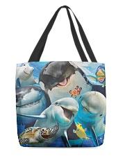 Happy Sea Animals All-Over Tote tile