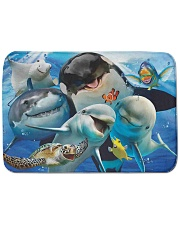Happy Sea Animals Bath Mat tile