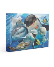 Happy Sea Animals Gallery Wrapped Canvas Prints tile