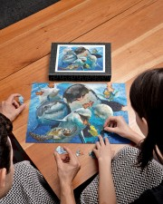 Happy Sea Animals 250 Piece Puzzle (horizontal) aos-jigsaw-puzzle-250-pieces-horizontal-lifestyle-front-10