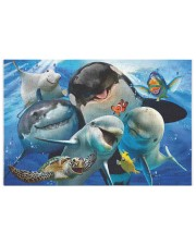 Happy Sea Animals 250 Piece Puzzle (horizontal) front