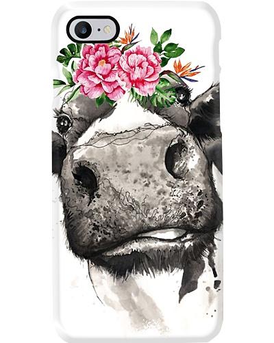 Cow flower phone case