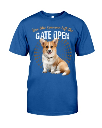 Corgi left the gate open