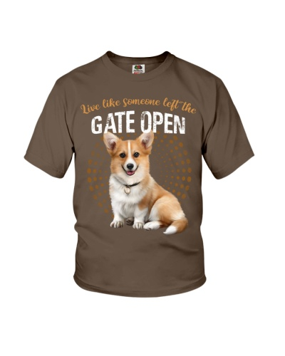 Corgi left the gate open