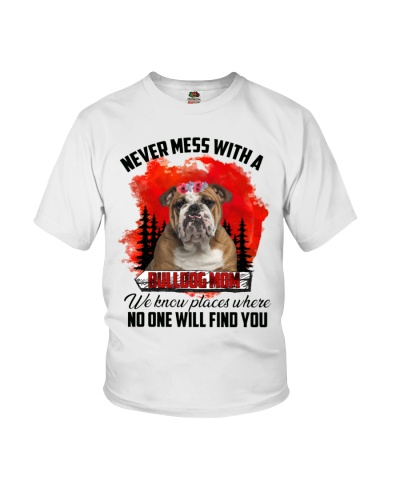Never mess with a bulldog mom shirt