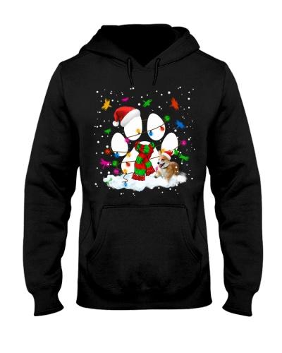 Christmas Paw Corgi Hoodie
