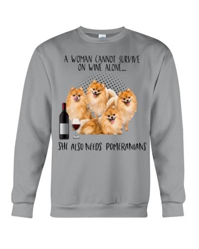 Pomeranians pointers wine she needs