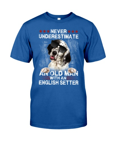 English setter never underestimate an old man