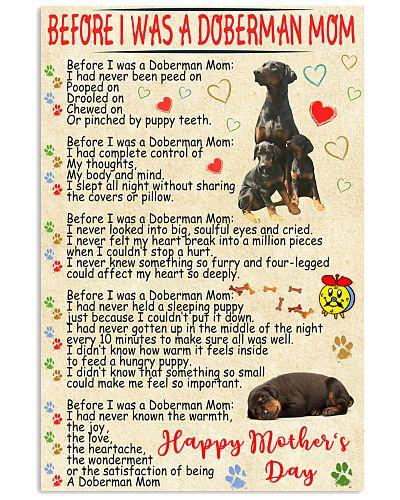 Doberman mom poster