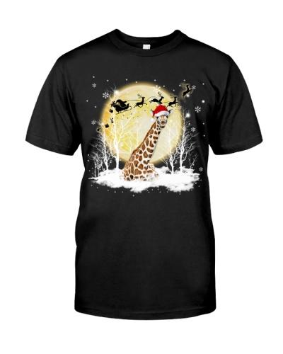 Giraffe under snow shirt