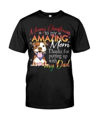Pitbull amazing mom
