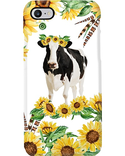 Cow sunshine flower phone case