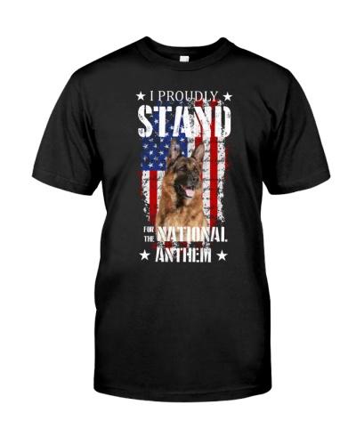 SHN Proudly stand national anthem German Shepherd