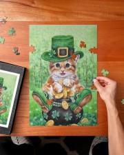 Cat St Patricks Day 250 Piece Puzzle (vertical) aos-jigsaw-puzzle-250-pieces-vertical-lifestyle-front-02