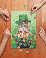 Cat St Patricks Day 250 Piece Puzzle (vertical) aos-jigsaw-puzzle-250-pieces-vertical-lifestyle-front-06