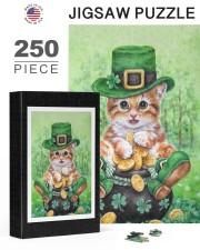 Cat St Patricks Day 250 Piece Puzzle (vertical) aos-jigsaw-puzzle-250-pieces-vertical-lifestyle-front-24