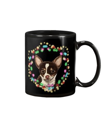 Chihuahua wreath lights