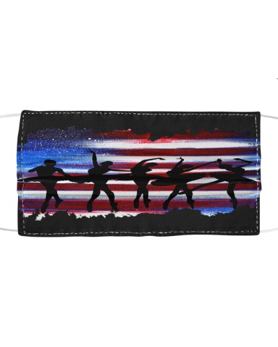 dt 6 ballet silhouette on USA Flag cloth 22520