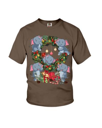 Elephants are decorating christmas