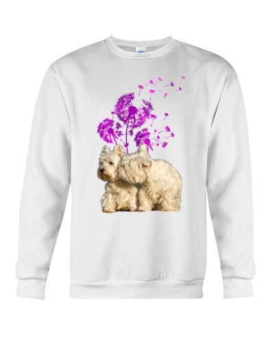 Westies dandelion purple shirt