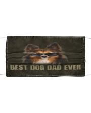 Th 2 Sheltie Best Dog Dad Ever Cloth face mask front