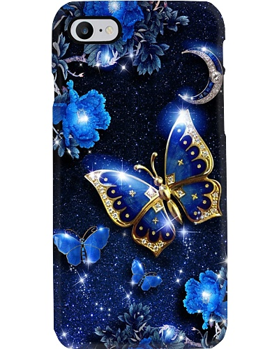 SHN 8 Mystery blue moon Butterfly phone case