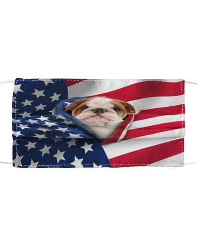 SHN 10 Opened American flag English Bulldog