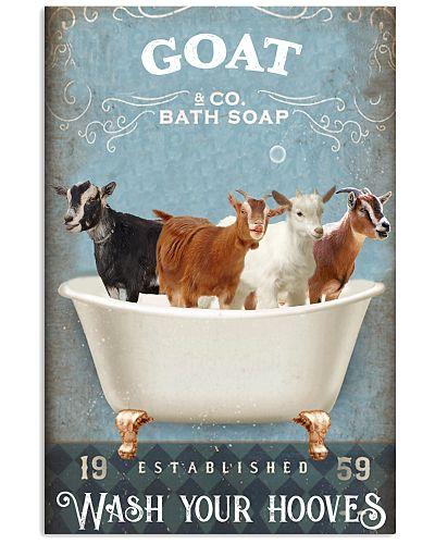 Goat wash your hooves poster