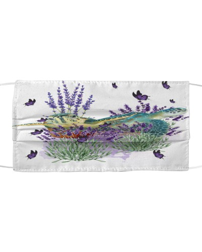 Turtle with lavender