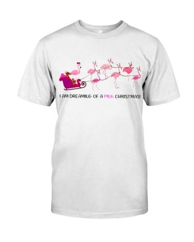 Flamingo pink christmas shirt