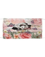 TH 2 English Setter Spring Cloth face mask front