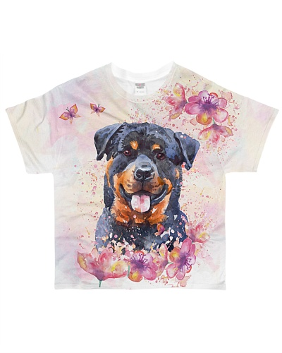 Rottweiler water color infull summer shirt