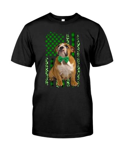 Bulldog flag patrick's day shirt