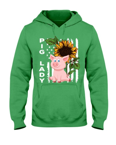 Pig sunflower and flag shirt