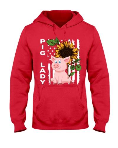 Pig sunflower and flag shirt