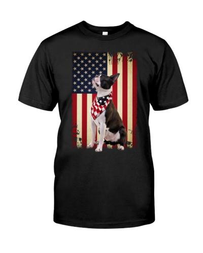 Boston Terrier smile flag