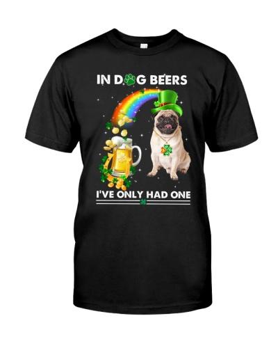 SHN 7 In dog beer Pug shirt