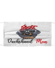 Monica dachshund love mom Cloth face mask front