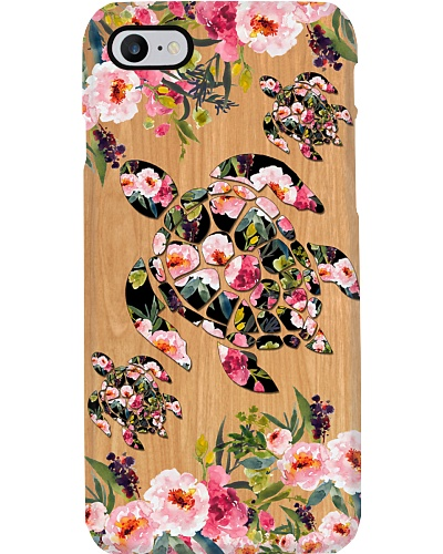 SHN 10 Wood background peony Turtle phone case