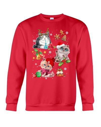 Cat chibi merry christmas