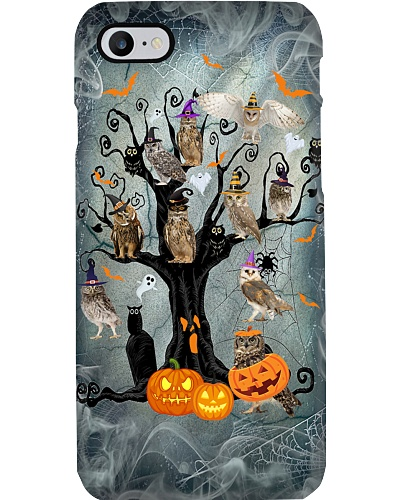 Owl halloween tree phone case
