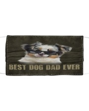 Th 2 Australian Shepherd Best Dog Dad Ever Cloth face mask front